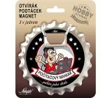 Nekupto Hobby 3in1 Opener, Coaster, Magnet Computer maniac 10 cm