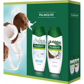 Palmolive Naturals Milk Proteins shower gel 250 ml + Coconut shower gel 250 ml, cosmetic set