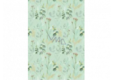 Ditipo Gift wrapping paper 70 x 100 cm Green twigs 2 sheets