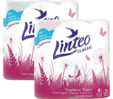 Linteo Classic toilet paper pink 2 ply, 150 pieces, 15 m, 4 pieces