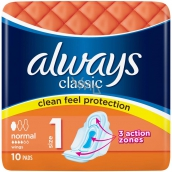 Always Classic Normal intimate pads 10 pieces