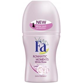 Fa Romantic White Rose deodorant roll-on for women 50 ml