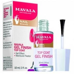 Mavala Gel Finish Top Coat svrchní lak s gelovým efektem 10 ml