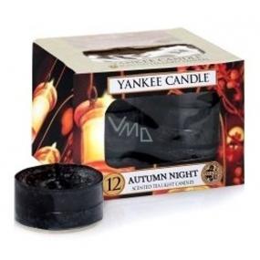 Yankee Candle Autumn Night - Podzimní večer vonná čajová svíčka 12 x 9,8 g
