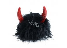 Black wig with horns