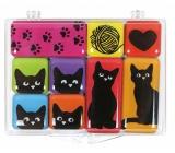 Albi Set of epoxy magnets Cats 9 pieces 9,2 cm x 6,6 cm x 1 cm