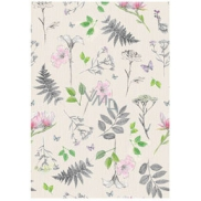 Ditipo packing papers 2pcs 70x100cm - light green fern + flowers