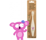 Jack N Jill BIO Koala extra soft toothbrush for children, decomposable in nature, made of corn starch, without BPA and PVC