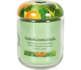 Heart & Home Tangerine, lime and basil Large soy scented candle burns up to 70 hours 310 g