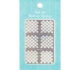 Nail Accessory Hollow Sticker nail templates multicolored drops 1 sheet 129