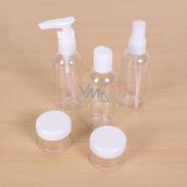 Albi Original 3 x 80 ml Travel Bottle Set + 2 Containers + Neutral Case - 15 cm x 15 cm x 4.5 cm