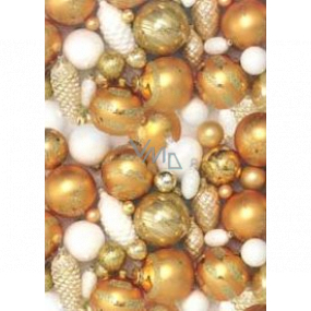 Ditipo Gift wrapping paper 70 x 200 cm Christmas gold flasks