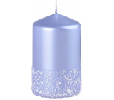 Emocio Frosted candle blue ice cylinder 60 x 100 mm