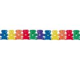 Garland Teddy bears color 400 x 19 cm