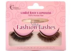 Absolute Cosmetics Fashion Lashes umělé nalepovací řasy středně dlouhé obloučkové černé 76 černé 1 pár