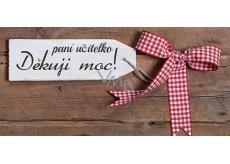 Bohemia Gifts & Cosmetics Děkuji moc! paní učitelko mléčná čokoláda dárková 100 g