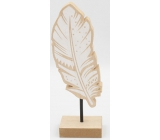 Nekupto Home Decor Decoration stand wooden feather 20 x 4 x 6 cm