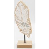 Nekupto Home Decor Decoration stand wooden feather 20 x 4 x 6 cm