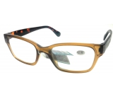 Berkeley Reading glasses +2.5 plastic light brown, tiger side 1 piece ER4198