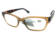 Berkeley +2.5 plastic prescription glasses brown 1 piece ER4198