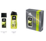 Adidas Pure Game perfumed deodorant glass for men 75 ml + shower gel 250 ml, cosmetic set