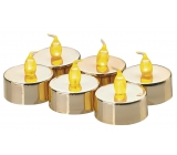 Emos LED candles lit amber, 3.8 cm, 6 pieces of gold