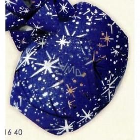 Nekupto Ball Luxury dark blue with silver details 1 cm x 10 m KB 216 40