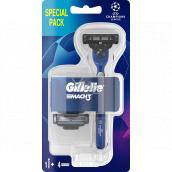 Gillette Mach3 razor for men + spare head 4 pieces