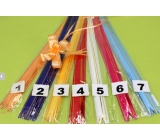 Ribbon tightening 18 x 390 mm light orange gold stripe 1 piece