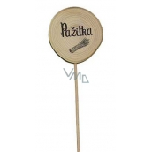 Bohemia Gifts Wooden recess for herbs with print - Chives diameter of the wheel is 5 - 8 cm