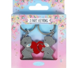 Me to You Keychain two-piece metal 2 hearts 3 x 8 cm