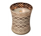 WoodWick Fireside - Fire in the fireplace scented candle with wooden wick and lid glass medium 275 g Autumn limited 2019