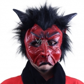 Mask devil with hair