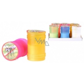 Citronella Mosquito repellent candle in plastic, color mix 60 x 95 mm 1 piece