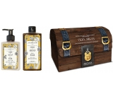 Amovita Olio di Argan Argan oil body lotion 300 ml + shower gel 300 ml + pendant for happiness, cosmetic set