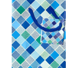 Nekupto Gift paper bag 14 x 11 x 6.5 cm Diamonds 1659 40 KFS
