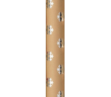 Zöwie Gift wrapping paper 70 x 150 cm Christmas Shining Moments natural with silver flakes