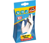 Fino Disposable powdered gloves size L 10 pieces