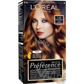 Loreal Paris Préférence Récital hair color 7.43 / K2 shangrilla copper blond
