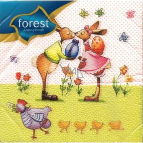 Forest Easter napkins Rabbit kiss 33 x 33 cm 1 layer 20 pieces