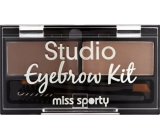 Miss Sporty Studio Eyebrow Kit set na obočí 001 Medium Brown 2,4 g