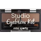 Miss Sporty Studio Eyebrow Kit set na obočí 001 Medium Brown 2,4 g