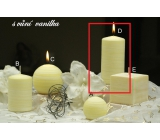 Lima Wellness Vanilla aroma candle cylinder 60 x 120 mm 1 piece