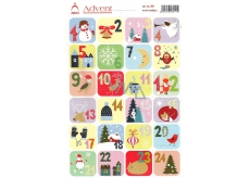 Arch Advent Stickers Advent Calendar 24 Labels
