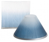 Yankee Candle Ombre Forest shade and a large plate