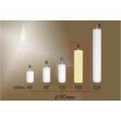 Lima Gastro smooth candle ivory cylinder 40 x 150 mm 1 piece
