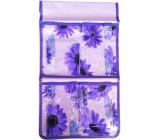 Hanging pocket purple 43 x 24 cm 4 pockets 711