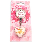 Nekupto For You Heart keychain Fox 8.5 x 3.5 cm