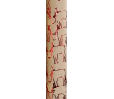 Zöwie Gift wrapping paper 70 x 150 cm Christmas Shining Moments natural with red reindeer shapes