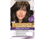 Loreal Paris Excellence Cool Creme hair color 4.11 Ultra ash brown